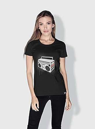 Creo Music Radio Trendy T-Shirts For Women - S, Black