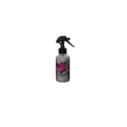 Diva Chics Be Glitzy Hair/Body Glitter, Silver, 5.2 Fluid (Cheer Body Glitter)