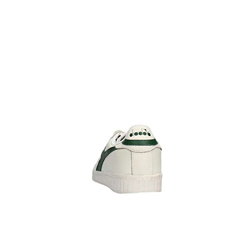 Diadora Game L Low Waxed, Sandalias con Plataforma Unisex, 36 EU Bianco/Fogliame