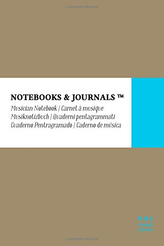 Read Online Musician Notebook, Pocket, Beige, Soft Cover (4 x 6): (Blank Sheet Music, Music Manuscript Paper, Staff Paper) PDF ePub fb2 ebook