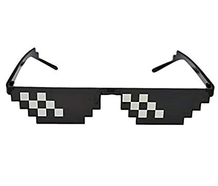 3e16d5108e4 CHNEO Glasses 8 Bit Mlg Pixelated Sunglasses Men Women Brand Thug Life  Party Eyeglasses Mosaic Vintage Eyewear