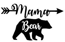 Mama Bear Mom Life Black Decal Vinyl Sticker|Cars Trucks Van