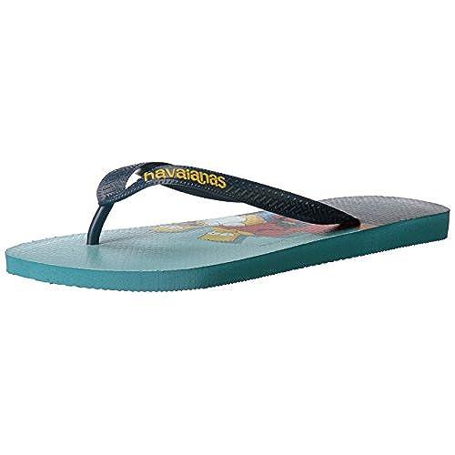 Havaianas Women's Simpsons Sandal Flip Flop, White, 41 BR/11/12 W US