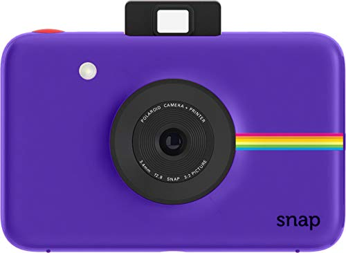 Polaroid Snap Instant Digital Camera (Purple) with Zink Zero Ink Printing Technology