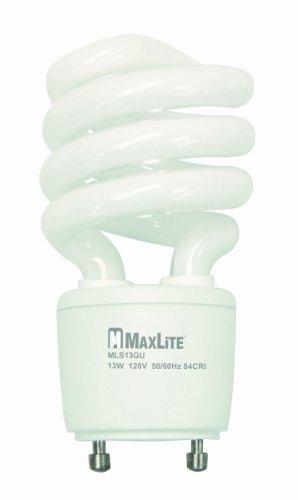 MaxLite MLS13GUWW (11279) 13-watt 2700K GU24 Self-Ballast CFL Lamp, Warm White