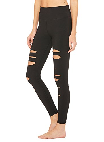 Ranphee Black Yoga Pants-Women Ripped Elastic Slim...