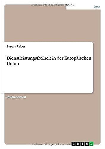 Book Dienstleistungsfreiheit in der Europäischen Union