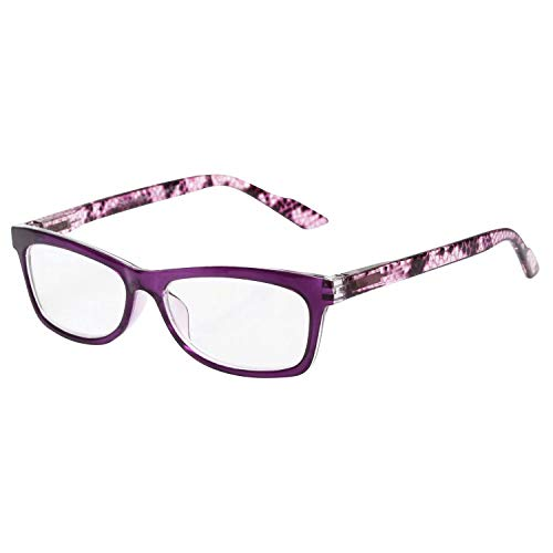 LianSan Fashion Reading Glasses Spring Hinges Men Women Readers Eyeglasses L3706x (+3.75, Purple)