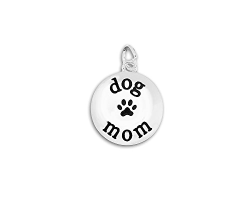 Circle Dog Mom Charms (Wholesale Pack - 25 (Wholesale Dog Charms)