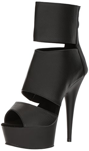 Pleaser DELIGHT-600-16 Blk Pu/Blk Matte Size UK 6 EU 39