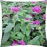Pink flowers 134 - Throw Pillow Cover Case (18
