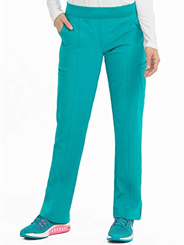 Med Couture Energy Women's Yoga 2 Cargo Pocket Scrub Pant, Teal, X-Large (Patch Pocket Internal)