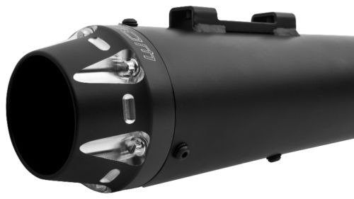 """Freedom HD00263 Exhaust (American Outlaw Slip-On Black Tip 4.5"""")"""