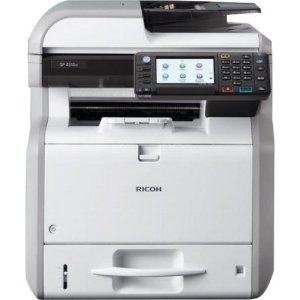 Ricoh Aficio SP 4510SF LED Multifunction Printer - Monochrome - Plain Paper Print - Desktop - Copier/Fax/Printer/Scanner - 42 ppm Mono Print - 1200 x 1200 dpi Print - 42 (Ricoh Plain Paper Fax)