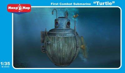 A Model 1/35 米・タートル潜水艇・アメリカ独立戦争 プラモデル