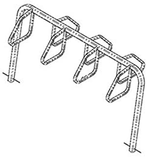product image for City Bicycle Rack, Double Sided, Below Grade Mount, 7-Bike