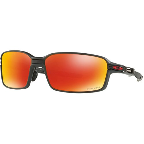 Oakley Men's Carbon Prime Polarized Sunglasses, Carbon Fiber/Prizm Ruby - Prime Sunglasses