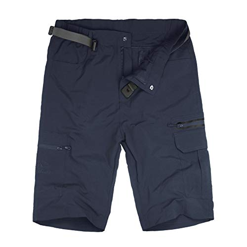 Kolongvangie Mens Quick Dry Cargo Shorts with Belt