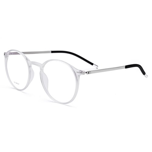 FONEX Men Titanium Alloy Optical Prescription Glasses Frame Eyewear 725 (clear, - Motorcycle Prescription Glasses