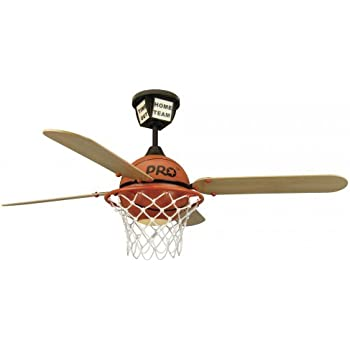 "Craftmade PS52BB, Four Blade 52"" Prostar Basketball Ceiling Fan With Light and Remote"