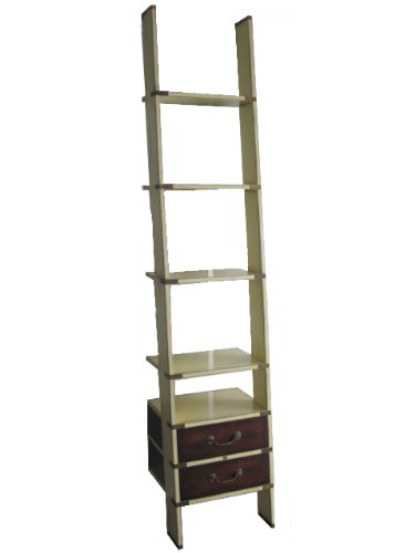 Library Ladder in Ivory