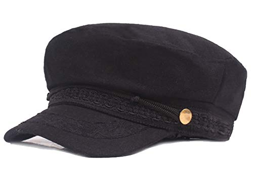 (Womens Flat Newsboy Cap Soft Wool Blend Visor Beret Cabbie Gatsby Girls Winter Cozy Hat)