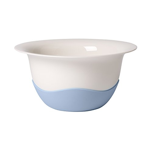 Clever Cooking Strainer/Serving Bowl by Villeroy & Boch - Premium Porcelain - Made in Germany - Dishwasher and Microwave Safe - 11.5 Inches, Blue