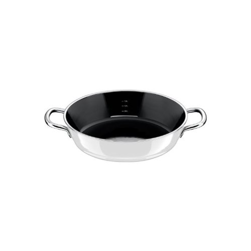 Silit 9119251915 Fry and Serve Stewing Pan without Lid, 9.5-Inch, Nature White
