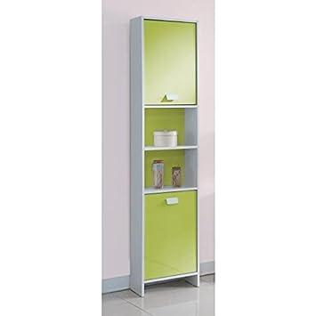 TOP Colonne de salle de bain L 40 cm - Blanc et vert: Amazon ...