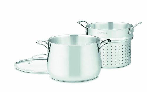Cuisinart 44-22 Contour Stainless 6-Quart, 3-Piece Pasta Pot with Cover by Cuisinart (Image #2)