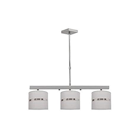 Lámpara con Pantallas Color Gri.s 3xE27. Dimensiones Regulablex73cm: Amazon.es: Iluminación