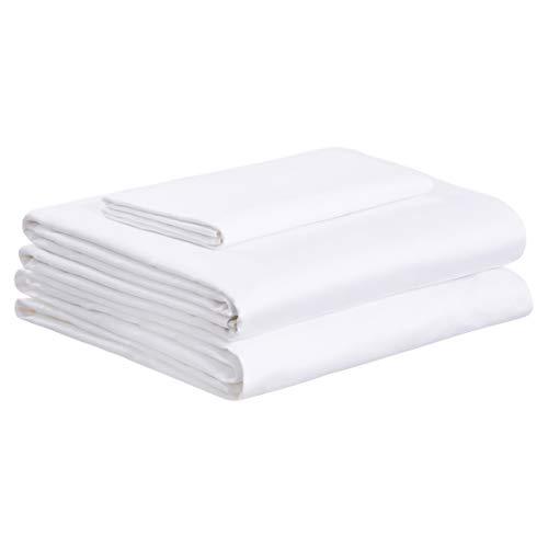 AmazonBasics Super-Soft Sateen 400TC Cotton Sheet Set - Twin, ()