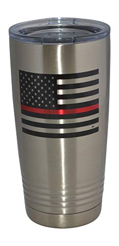 Thin Red Line Flag Firefighter 20 Oz. Travel