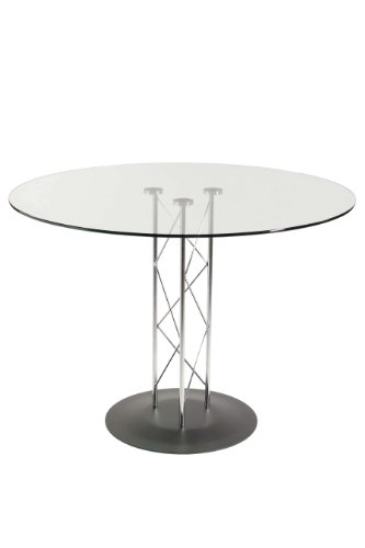 Eurø Style Trave Clear Glass Round Top  - Trave 48