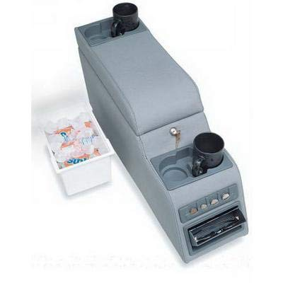 RAMPAGE PRODUCTS 31511 Locking Center Console for 1976-1995 Jeep CJ & Wrangler YJ, Denim Grey ()