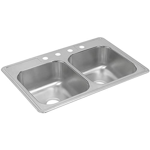 Dayton DXR33223 Equal Double Bowl Drop-in Stainless Steel Sink
