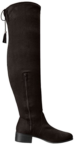 Madden Girl Women's Prissley Riding Boot Black Fabric mc2IOrFIci