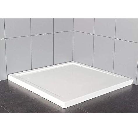 Plato de ducha cuadrado 90 x 90 cm en material acrílico | altura 5 cm | serie Top con tapa de ocultación válvula: Amazon.es: Bricolaje y herramientas