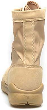 KODH Military taktischen Stiefel bequem Faux-Veloursleder hohe Hilfe schnüren Oben STYL Antislip Anti-Verschleiß dauerhaft Gummisohle (Farbe : Schwarz, Größe : 43 EU)
