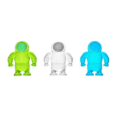 OOLY, Astronaut Erasers - Set of 3: Arts, Crafts & Sewing