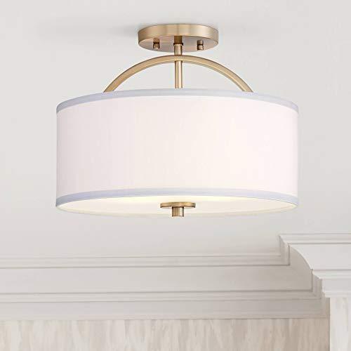 Halsted Ceiling Light Semi Flush Mount Fixture Warm Brass 15