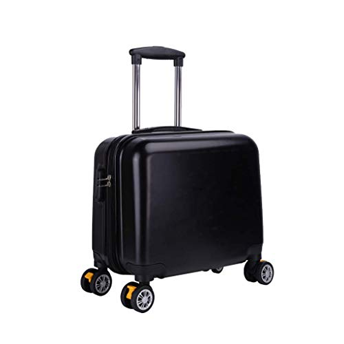 Nosterappou Trolley case mini boarding 18 inch, student business office portable boarding, light carrying belt, small suitcase password box luggage, waterproof and tough ABS shell, 360 degree free rot ()