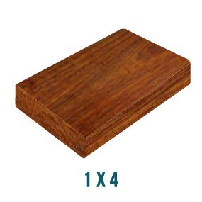 "Everlasting Hardwoods 1"" x 4"" x 4' Ipé Hardwood Decking"
