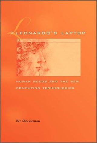 Human Needs and the New Computing Technologies Leonardos Laptop