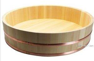 JapanBargain S-2150, Japanese Sawara Cypress Wooden Sushi Oke Rice Tub Hangiri, 72cm
