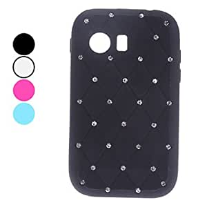 JOE sold out Solid Color Soft Case with Rhinestone for Samsung Galaxy Y S5360 (Assorted Colors) , Black