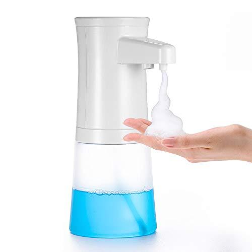 Lantoo Automatic Foam Soap Dispenser, Hands Free Automatic Dish Foaming Soap Dispenser Touchless for Bathroom & Kitchen, 350ml Capacity, Noodle Like Bubbles, Stylish Modern Design
