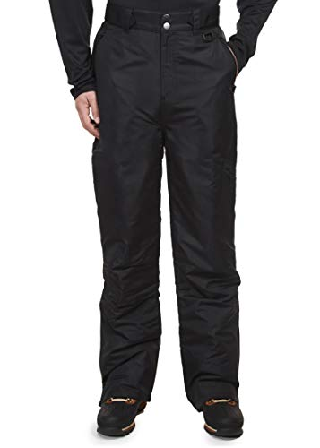 Swiss Alps Mens Insulated Ski and Snow Pants (2XL, DEEP Black (8054))