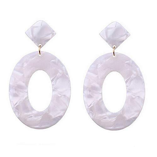 Monowi 2019 New Geometric Round Tortoise Earrings Acrylic Resin Oval Pendant Earrings | Model ERRNGS - 5291 |