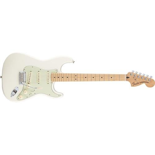 Fender Deluxe Roadhouse Stratocaster Electric Guitar, Maple Fingerboard, Olympic White